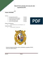 Informe de física III de la práctica de la ley de ohm experiencia N.docx