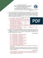 LISTA DE EXERCÍCIOS Nº3b - Gabarito