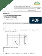 Avaliação de Matematica- 4° Bimestre