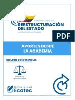 Memorias Reestructuración Del Estado - ECOTEC - Mario Cuvi