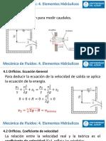 Mecánica de Fluidos 2020 Capitulo 4 (Elementos Hidráulicos).pptx