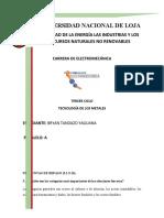 TAREA DE TECNOLOGIA DE LOS METALES