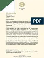 Mayor Gelber letter to Gov. DeSantis