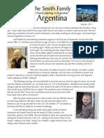 Smith Family to Argentina January Prayer Letter 2011