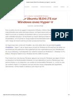 Installer Ubuntu 18.04 LTS sur Windows avec Hyper-V - Linux Hint