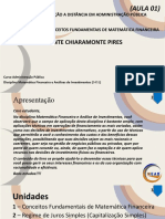 1-Matemática Financeira e Análise de Investimentos - unidade 1