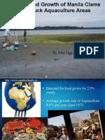 Predation and Growth of Manila Clams