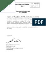 CERTIFICACION LABORAL CS CONSTRUCCIONES