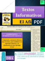 PRESENTACION CLASE DE TEXTOS INFORMATIVOS