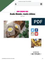 Asado Alemán, receta chilena - Fran is in the Kitchen