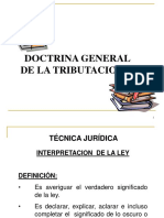 DOCTRINA GENERAL DE LA TRIBUTACION