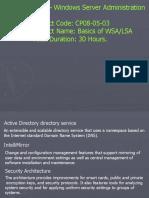 Basics of WSA