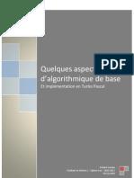 Aspects d'algorithmique de base