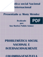PROBLEMÁTICA SOCIAL NACIONAL E INTERNACIONALMENTE