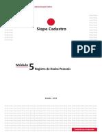 Módulo 5 - Registro de Dados Pessoais