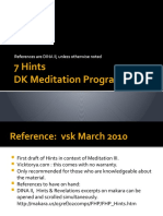 Hints and Revelations in context of DK's meditation program