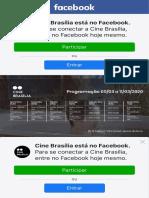 Cine Brasília - Programação  5 a 11 de março  ? R$ 12 (inteira)  R$ 6 (meia) - Bilheteria só aceita dinheiro.  Facebook