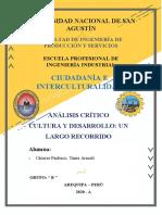 CIUDADANÍA E INTERCULTURALIDAD