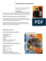 neo-expressionism handout