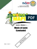 ModEL-Music7-Q1-W1-Music of Luzon (Lowlands)-Minette DG. Rosario