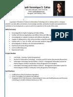 Riyah Veronique Calizo Resume-marketing