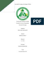 Ética y Deontologia. (Cuestionario). -