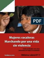 Mujeres cocaleras marchando por una vida sin violencia - Coordinadora de las cinco federaciones