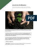 La importancia de los fertilizantes