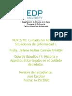 Aspectos ético-legales en el cuidado del adulto Jose Escobar