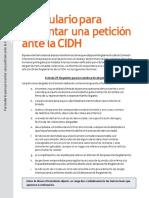 petición ante la CIDH