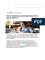 How to modernize your job application in the age of COVID-19