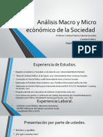 Análisis Macro y Micro económico de la Sociedad (3)