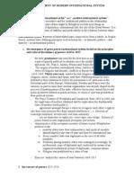 DEVELOPMENT OF MODERN INTERNATIONAL SYSTEM, handout 1