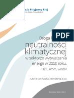 Raport o drodze Polski do neutralności klimatycznej w 2050