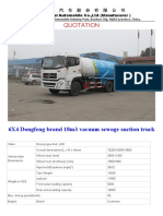 6X4 Dongfeng Brand 18m3 Vacuum Sewage Suction Truck