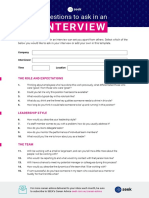 Interview questions template to ask from seek