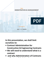 Contract Administration &   Management