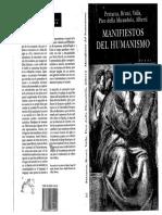 1-Pico Della Mirandola - Manifiestos del humanismo