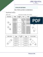 Catalogo de Sistema Centralizado Conexões, Tubos e aces..doc