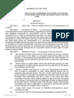 RA 9267 Securitization Act of 2004