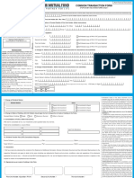 Common Transaction Form