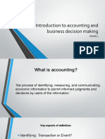 Module 1A - Introduction to accounting