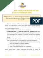 Como lidar com profissionais de baixo desempenho_