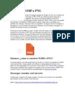 Convertir WEBP a PNG