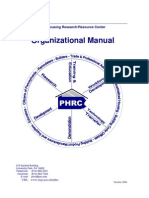 Organizational Manual Version 05-05-03