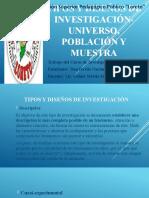 TIPOS Y DISEÑOS DE INVESTIGACIÓN-UNIVERSO, POBLACIÓN Y