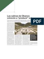 Las Salinas de Obanos volverán a  producir  sal