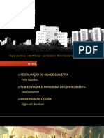 Eixo 6 - Subjetividade e cidade