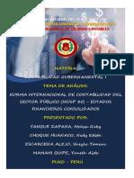 (NICSP 35) - ESTADOS FINANCIEROS CONSOLIDADOS