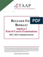 2012 Algebra I Released Item Booklet.pdf